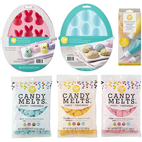 Wilton Easter Treat Molds and Candy Melts Candy Making Set, 6-Piece