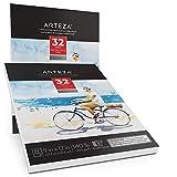 "Arteza 9x12"" Expert Watercolor Pad, Pack of 2, 64"