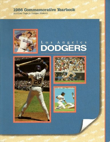 1986 Los Angeles Dodgers Yearbook