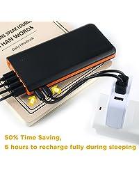 Batería externa de 20000 mAh EasyAcc, Negro y anaranjado
