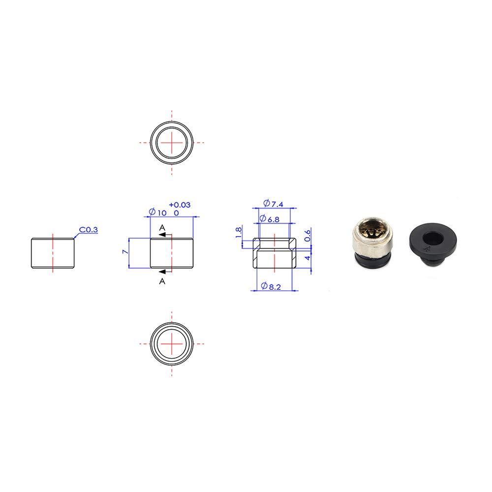 FYSETC 3D-Drucker Prusa i3 MK3 Ersatzteile Upgrade Clones K/ühlk/örper Extruder Heizk/örper MK3 Metall V6 1,75 mm Hotend Fernbedienung direkt /& Bowden mit Spannzange