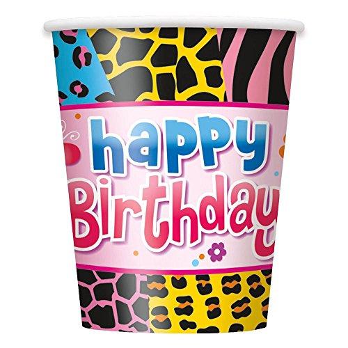 9oz Wild Birthday Party Cups, 8ct