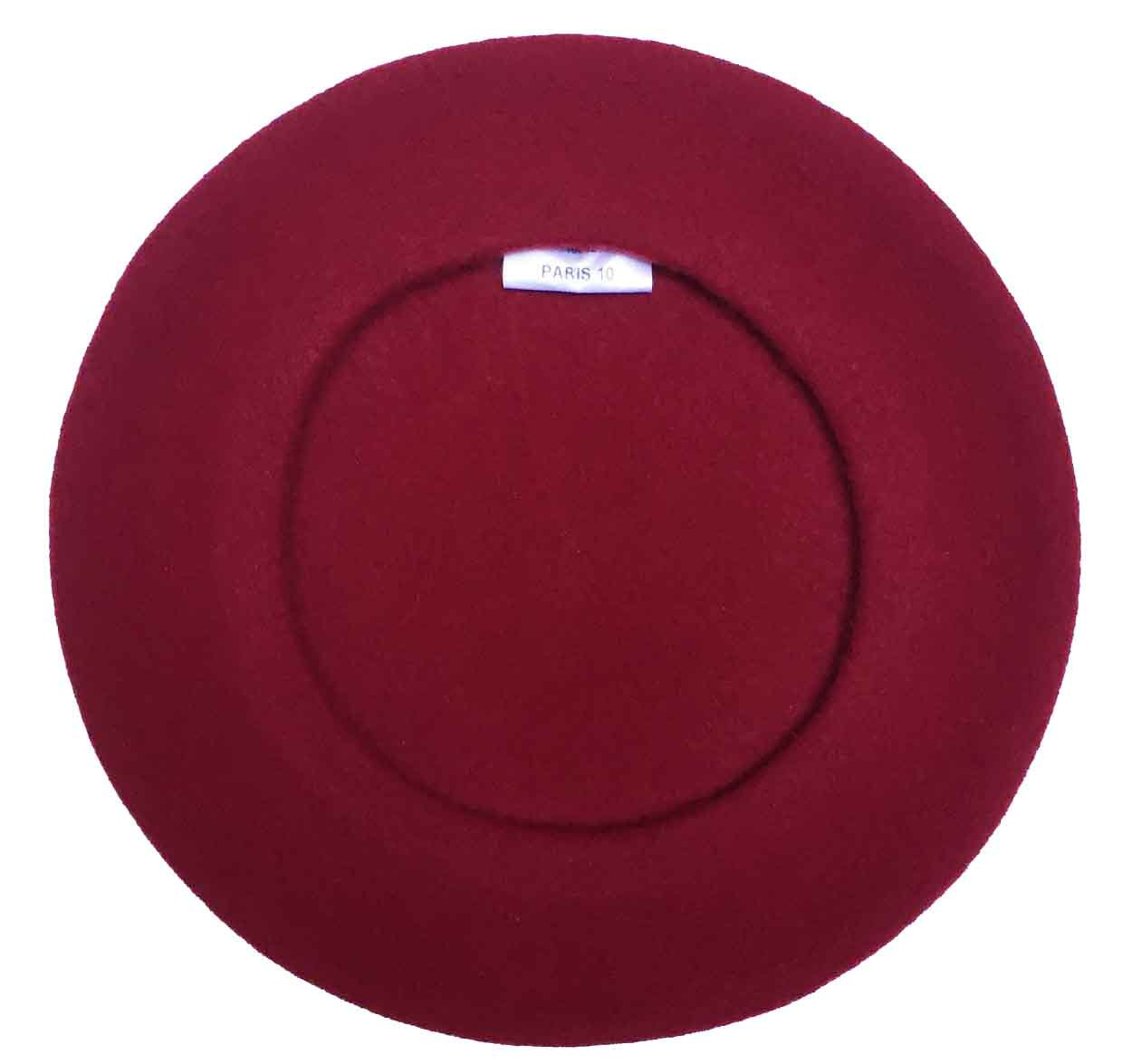 Laulhere Traditional French Wool Beret, Bordeaux
