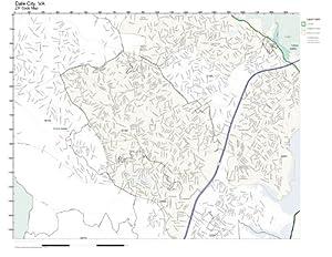 Amazoncom ZIP Code Wall Map of Dale City VA ZIP Code Map