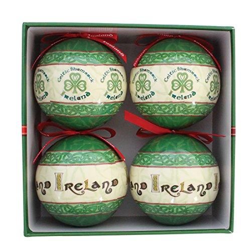 Irish Celtic Christmas Bauble Tree Decoration Set of Four ()