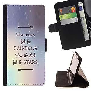 - Queen Pattern FOR LG Nexus 5 D820 D821 /La identificaci????n del cr????dito ranuras para tarjetas tir????n de la caja Cartera de cuero cubie - stars arrow rainbows motivational