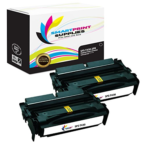 Smart Print Supplies 12A8425 Lexmark T430 Premium Black 2-Pack Compatible Toner Cartridge Replacement also for T430D T430DN Laser Printers (12,000 Pages) (Laser T430 Printer)