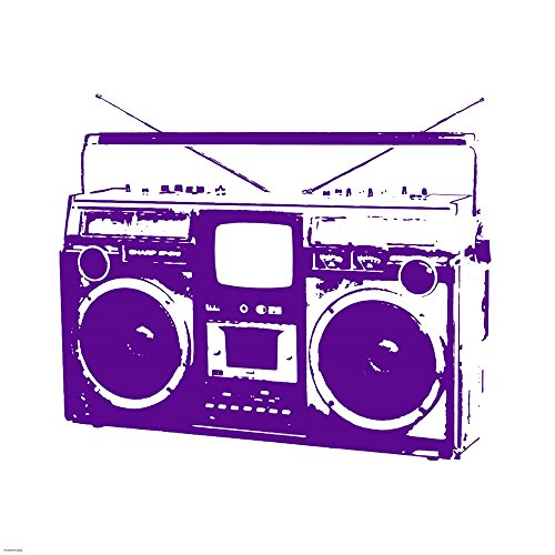 Purple Boom Box by Veruca Salt Art Print, 30 x 30 inches ()