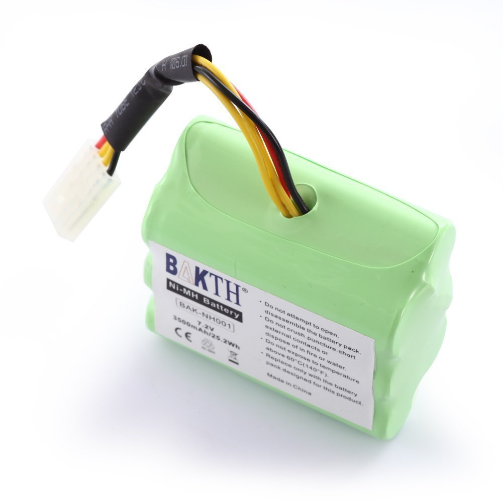 BAKTH 2 Pack High Capacity 7.2V 3500mAh NiMH Vacuum Cleaner Replacement Battery Neato XV Series XV-11 XV-12 XV-14 XV-15 XV-21 Robotics 945-0005 205-0001 945-0006 945-0024 New version