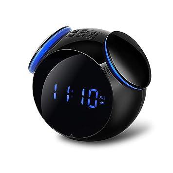 XXBR Reloj Radio Despertador,Cargador USB Reloj Despertador ...