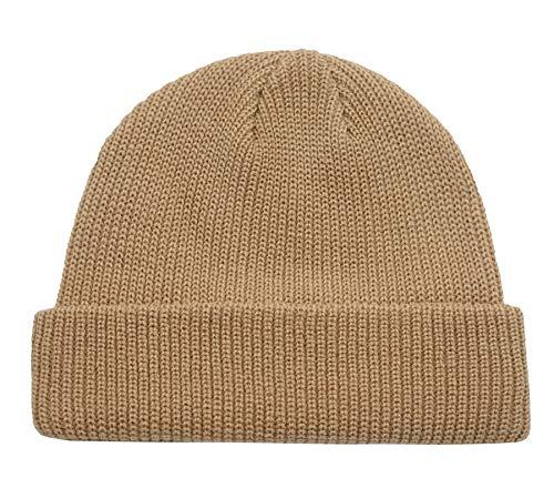 Connectyle Classic Men's Warm Winter Hats Acrylic Knit Cuff Beanie Cap Daily Beanie Hat (Khaki) ,Medium