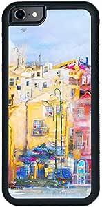 ديكالاك كفر حماية لهاتف ايفون 8، بتصميم لوحة زيتية لمدينة جميلة