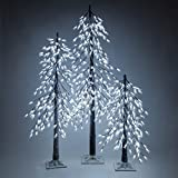 Cool White LED Frosted Tree – Alpine Tree – Lighted Tree Decor (6 Ft, 320 Lights)