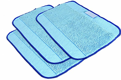 Limber-Shop Microfiber Pro-Clean Mopping Cloths for Braava Floor Mopping Robot 380 380T, Pack of 3