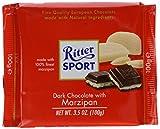 dark chocolate liquor - Ritter Dark Chocolate With Marzipan, 3.5 oz