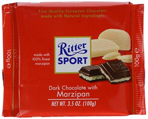 Ritter Sport Marzipan - Ritter Dark Chocolate With Marzipan, 3.5 oz