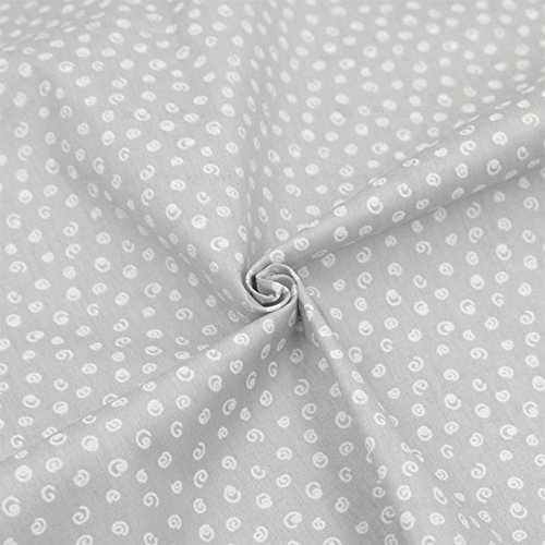 Hanjunzhao Quilting Fabric,Grey Fat Quarters Fabric Bundles,100% Cotton Fabric for Sewing Crafting,Print Floral Striped Polka Dot Gingham Fabric,18'' x 22''(Grey) by Hanjunzhao (Image #2)