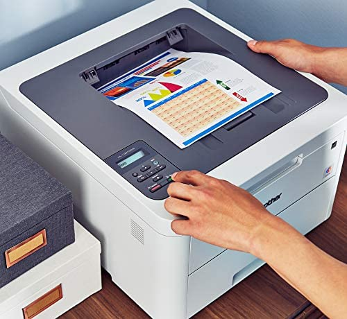 Brother HL-L3210CW Compact Digital Color Printer Providing Laser Printer Quality Results with Wireless, Amazon Dash Replenishment Ready, White 51ypBQG88YL