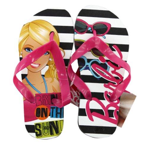 Barbie Mädchen Flip Flops–Lizenzware–Schwarz