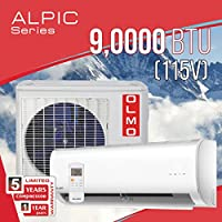OLMO  Alpic 9,000 BTU 115V Ductless Mini Split Air Conditioner with Heat Pump