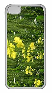 iPhone 5C Case, Personalized Custom Yellow Flowers Christian Shashi Seo for iPhone 5C PC Clear Case