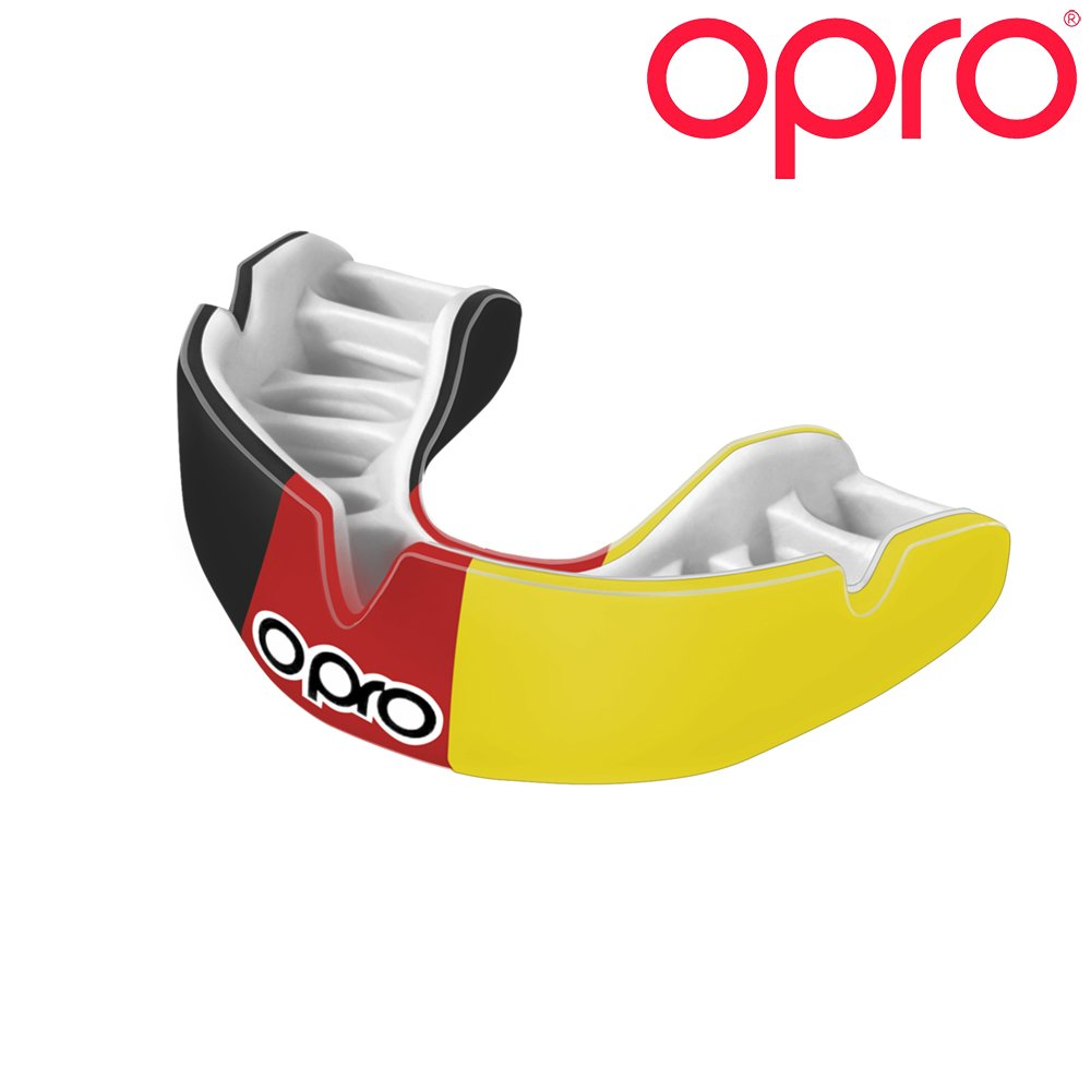 OPRO Power-Fit Countries Mouthguard | Adult Handmade Gum Shield for Football, Rugby, Hockey, Wrestling, and Other Combat and Contact Sports - 18 Month Dental Warranty (Ages 10+) (Germany)