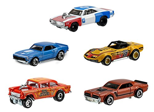 Culture HW REDLINERS SET OF 5 Real Rider Collectible Die Cast Toy Model Cars ()