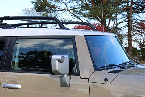 Stainless Steel Threading 12 Black Short Antenna is Compatible with Ford F-250 - Spiral Wind Noise Cancellation AntennaMastsRus Spring Steel Construction 1980-2016