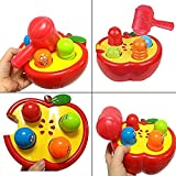 Baby Kids Plastic Toys Play Knock Hit Hamster Insect Game Playing Fruit Worm Educational Toy Kids Birthday Gift Xmas Gift