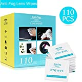 4. Lens Cleaning Wipes, Anti-Fog Glasses Cleaners Pre-moistened and Non-Scratching Eyeglass Wipes for Eyeglasses, Tablets, Camera Lenses, Screens, Keyboards and Other Delicate Surfaces - 110 Individually