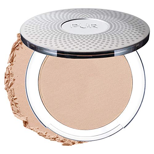 PÜR 4-in-1 Pressed Mineral Makeup Foundation with Skincare Ingredients in Light, 0.28 Ounce (Best Primer For Fine Lines Under Eyes)