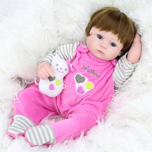 Handmade Lifelike Reborn Baby Dolls Soft Vinyl Silicone Grils Full Body Doll Toys Gifts Eyes Open