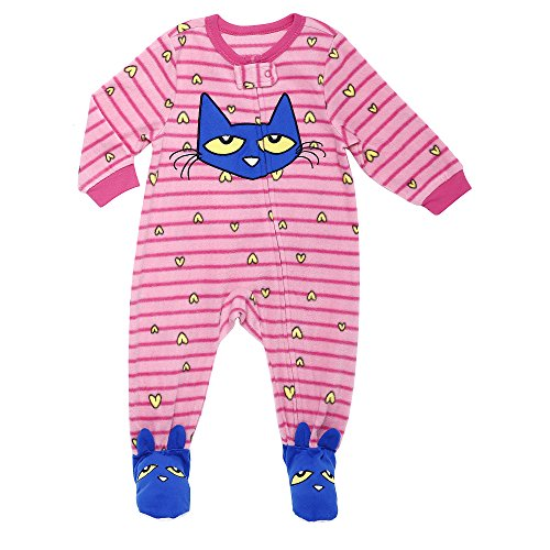 Price comparison product image Pete the Cat Toddler Girls' Fleece Blanket Sleeper,  Pink,  2T