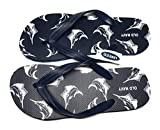 Old Navy Flip Flop Sandals for Woman, Great for Beach or Casual Wear (Blue Fish, 10-11)