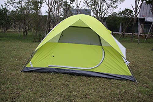 STAR HOME Factory Different Size of 2,4,6 Person Double Layer Family Tents for Camping Color Green (6 person)