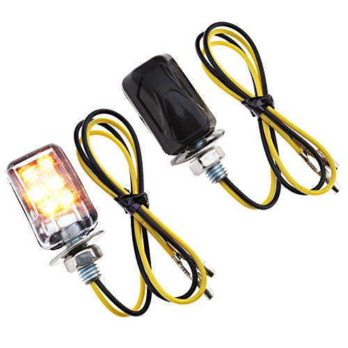 Mini Tail Micro Lights - 4pcs Motorcycle Turn Signals LED Micro Mini Tiny Small Indicators Turn Signal Lights
