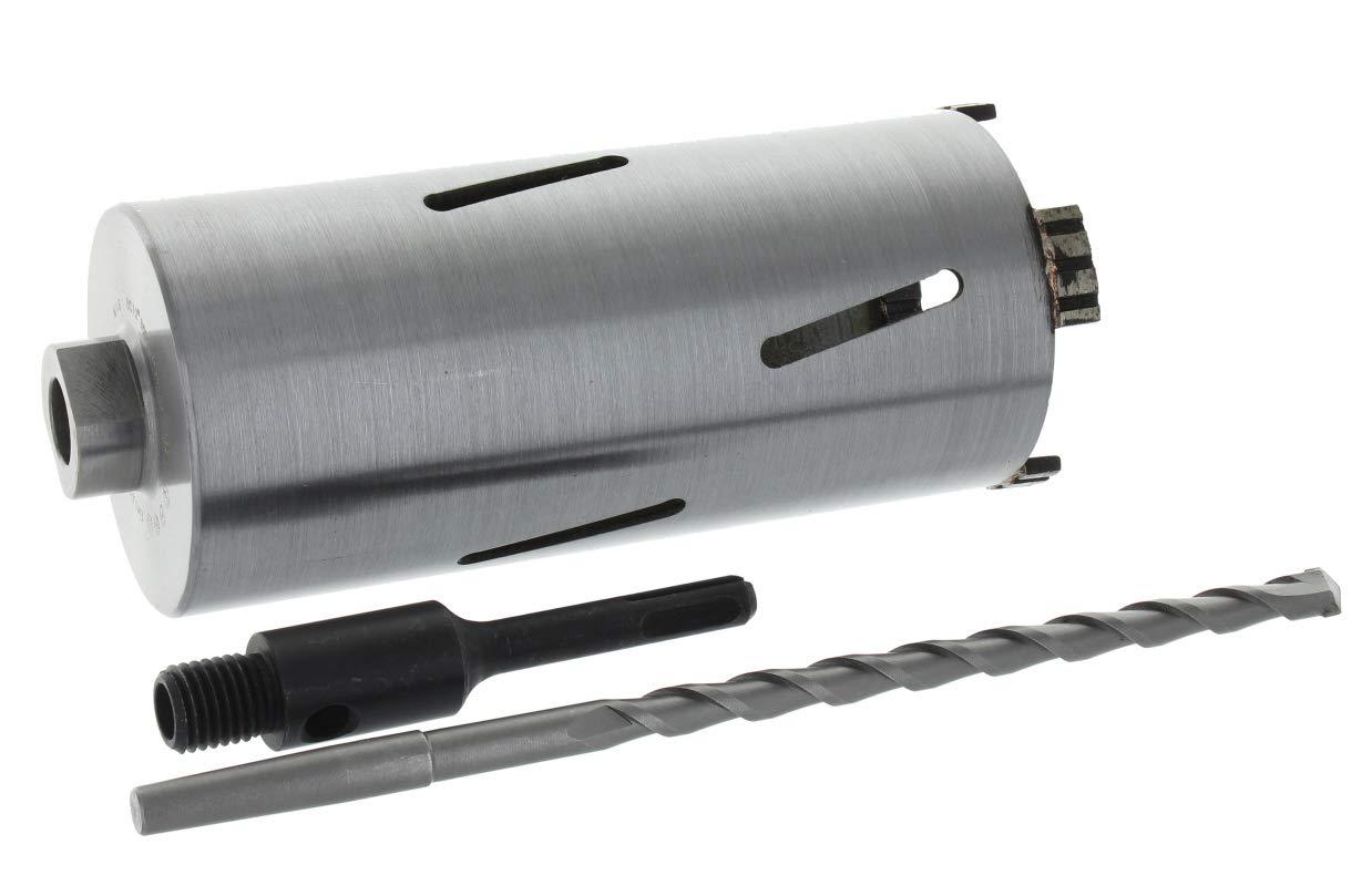 Diamant Bohrkrone SDS-plus Aufnahme und Zentrierbohrer Nutzl/änge 180 mm /Ø 102 mm Betonbohrkrone Kernbohrer
