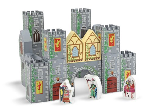 - Melissa & Doug 10532 Wooden Castle Blocks, Multicolor