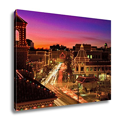 Ashley Canvas, Kansas City Plaza Christmas Lights Skyline, - Plaza City The Kansas
