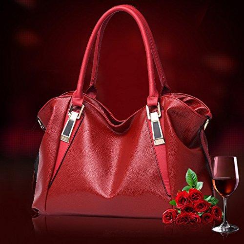 Femme Sac bandouliere YYF Fille a Classique Wine main dos Sac a Casual sac Travail 188qdUx