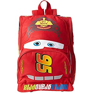Disney Big Boys' Cars Lightining Mcqueen Mini Rolling Backpack