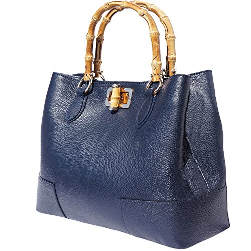 Leather Bag Handle 9138 Navy Wooden Blue With rrSdqwT