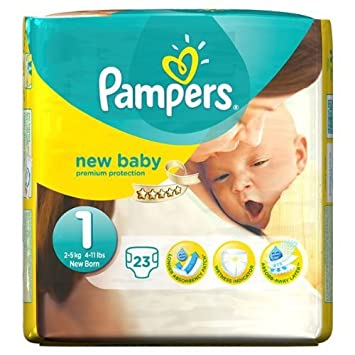PAMPERS Pañales New Baby Talla 1 recién nacido 2-5 kg - 46 pañales (