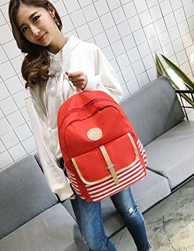 école à Cabas messager Sac de à Femme filles mode main sacs Mode Femme sac Rouge toile JIANGfu Femme sac Main épaule à BCBG voyage Sac dos wXpERT