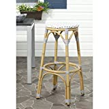 Safavieh Home Collection Kipnuk Grey&White Indoor/ Outdoor Barstool For Sale