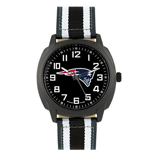 NFL New England Patriots Mens Ice Series Wrist Watch, Black, One Size