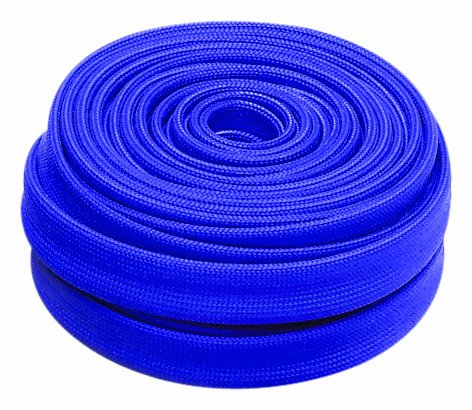 "Heatshield Products 203122 HP Color Heat Sleeve Blue 7/16"" ID x 25' Adjustable Heat Shield Sleeve"