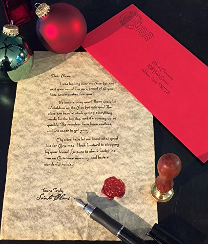 Personalized Letter From Santa Claus Postmarked From the North Pole With an Official Wax Seal