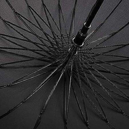 Paraguas Samurai Paraguas 24 Huesos Espada Super Larga Espada Paraguas Personalidad Retro Paraguas Negro Divertido Color : Negro, Tama/ño : 107x94cm