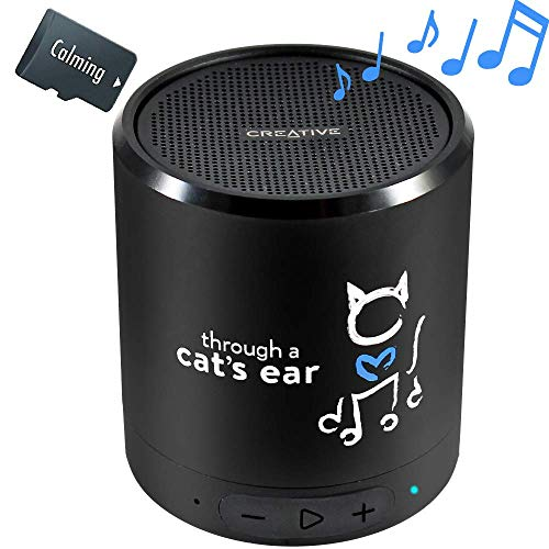 iCalmCat 5.0 Portable Speaker + 3-hrs Clinically-Tested Calming Music | Through a Cat's Ear is Your Proven Feline Anxiety Solution